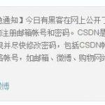 黑客公开CSDN网站数据库 600余万用户资料泄密