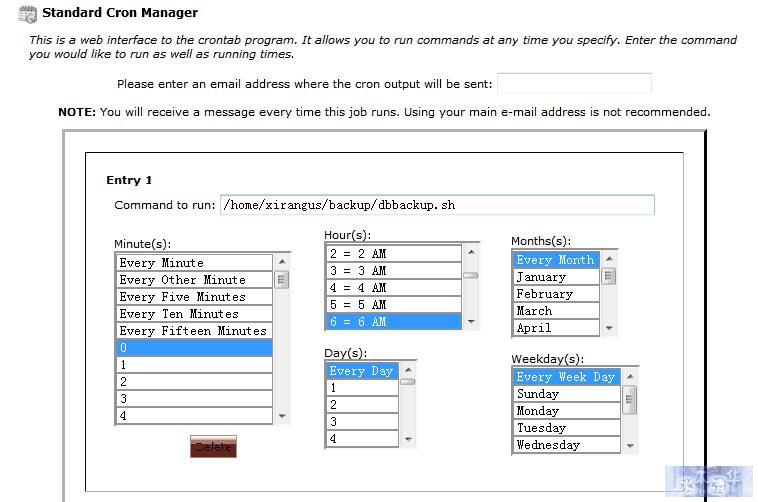 Add Cron Jobs/添加定时工作项目