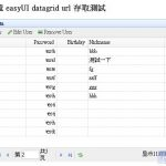 PHP–EasyUI DataGrid资料存取的方式介绍