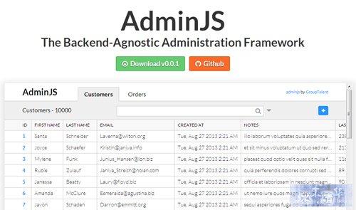 AdminJS-Backend-Administration-Framework