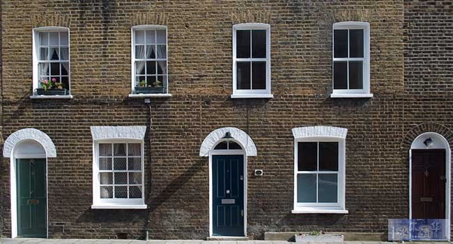 Terrace houses in London