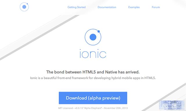 Ionic   Web App开发框架