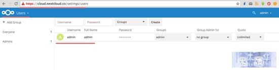 Nextcloud 用户设置